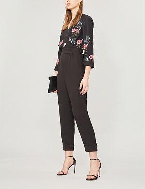 91c14f4a3eaf TED BAKER Oracle floral-print crepe jumpsuit