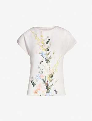 6382d0522 TED BAKER - Charre bow-trim jersey T-shirt