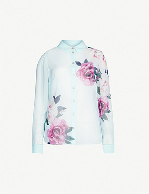TED BAKER Zaylaa magnificent-print woven shirt