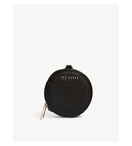 c51a5761c TED BAKER Marlida mini leather coin purse keyring (Black