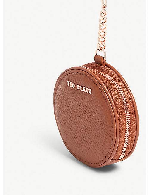 TED BAKER Marlida mini leather coin purse keyring