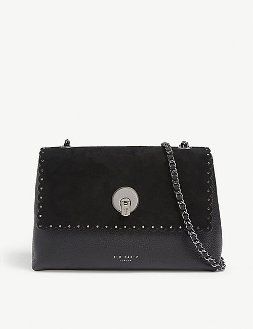 f50b38983 TED BAKER Studded circle lock cross body bag