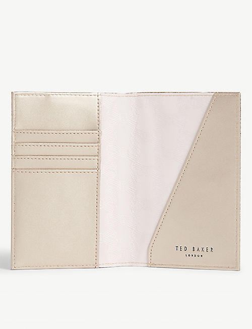TED BAKER Passport holder and tag set