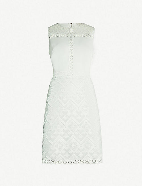 c97a586fc62a TED BAKER Butrcp geometric-embroidered woven dress
