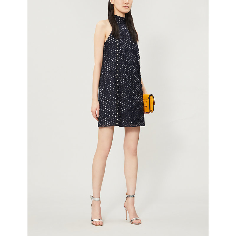 Ted Baker Dresses DAISY FLORAL-EMBROIDERED HALTERNECK LACE DRESS