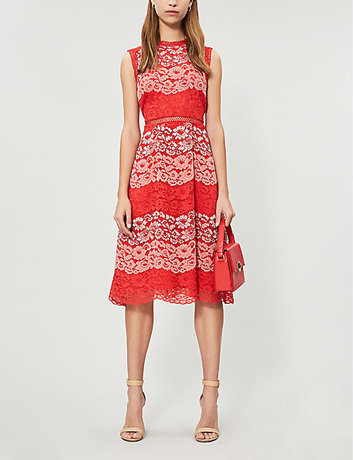 cf2ad35c4847f TED BAKER Inarra sleeveless lace dress