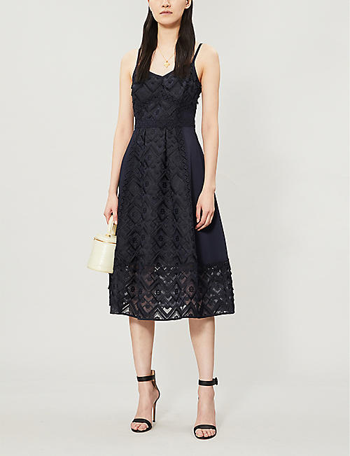 8c613e6b778c TED BAKER Leeeo lace midi dress. Quick Shop