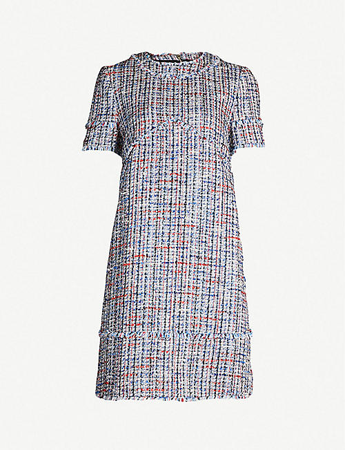 51b500b93 TED BAKER Frayed-trim tweed bouclé tunic dress