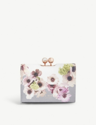 TED BAKER Abbs mini floral leather purse