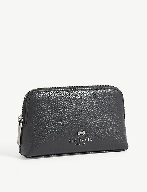 TED BAKER Emmahh leather mini make-up bag
