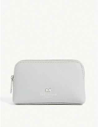 TED BAKER: Emmahh leather mini make-up bag