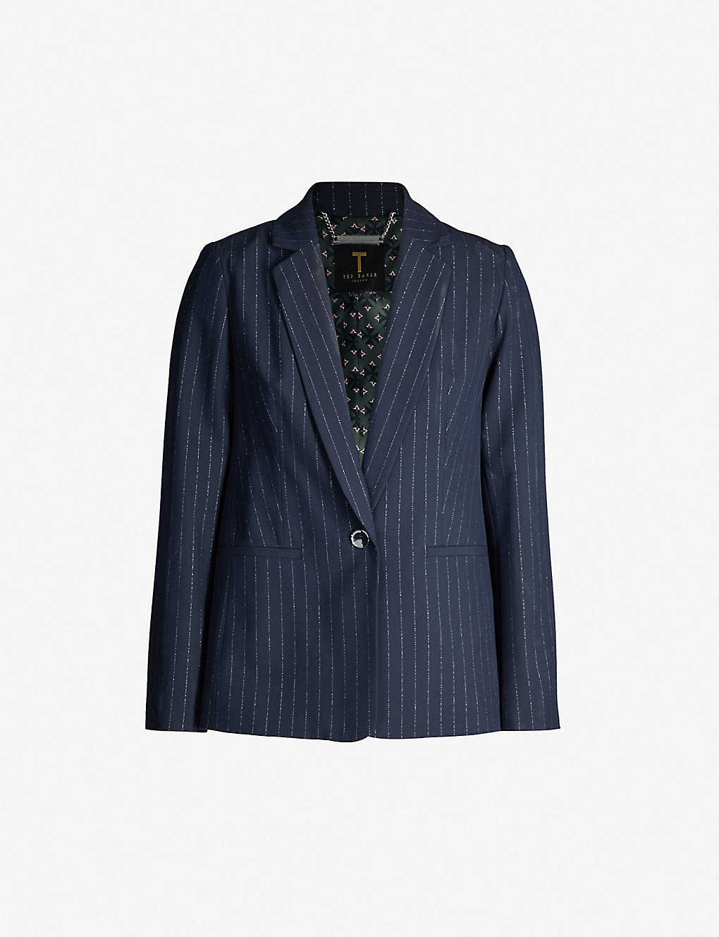 0015228933 TED BAKER - Metallic-striped woven blazer   Selfridges.com