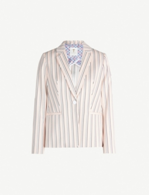 TED BAKER Betiia striped tailored woven blazer