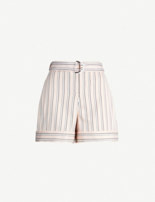 TED BAKER Betiias striped tailored woven shorts