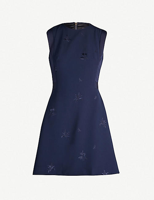 0b622ab2a2cb TED BAKER Saahrad embroidered crepe shift dress
