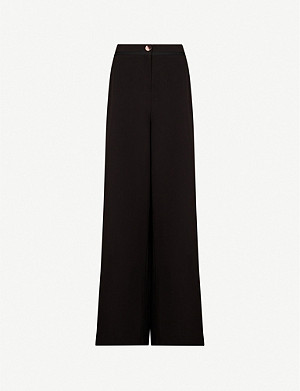 TED BAKER Adaart high-waist wide-leg crepe trousers