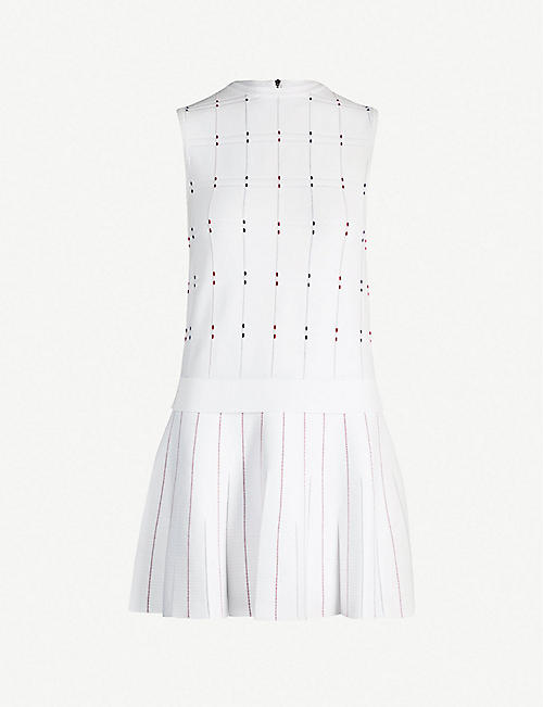 97d2b5f51b TED BAKER Stitched-detail checked woven dress
