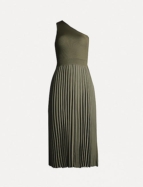 ae6b2976e TED BAKER Miriom asymmetric stretch-knit midi dress