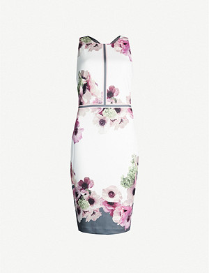 TED BAKER Neapolitan satin midi dress