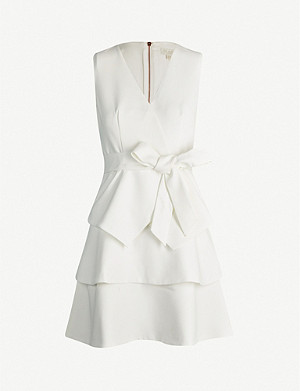 TED BAKER Reinah tiered stretch-twill mini dress