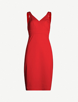 TED BAKER Trixxie panelled fitted crepe dress