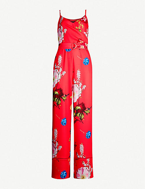 5c187122a2 TED BAKER Piiper floral-print crepe jumpsuit