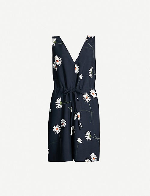 TED BAKER Anjie V-neck crepe playsuit