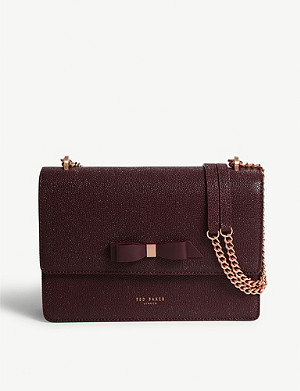 TED BAKER JOANAA leather cross-body bag