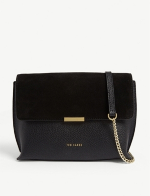 Lisa Suede And Leather Cross Body Bag by Ted Baker