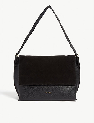 TED BAKER Louissa suede and leather shoulder bag