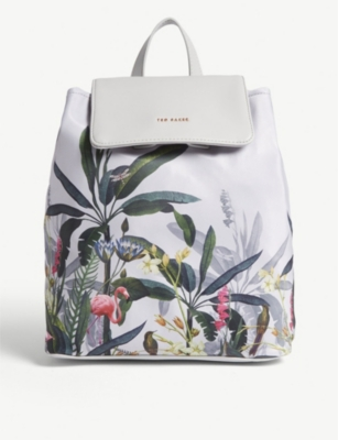 TED BAKER Pistachio drawstring backpack