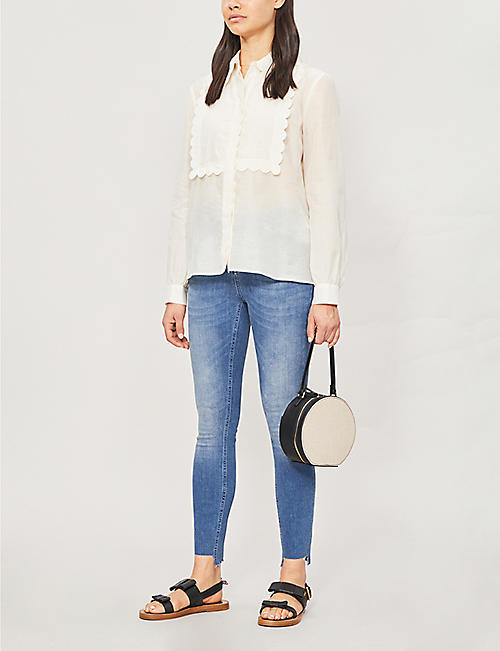 TED BAKER Oranah raw-cuff high-rise faded skinny jeans