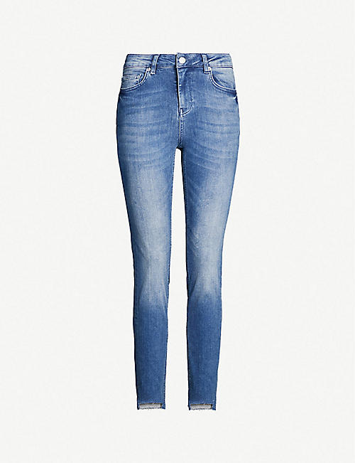bc0753d7d2f9 TED BAKER Oranah raw-cuff high-rise faded skinny jeans