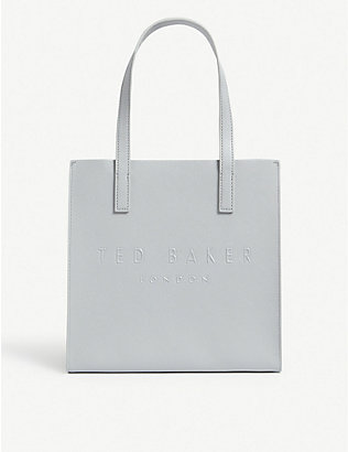 TED BAKER: Icon small crosshatch leather shopper