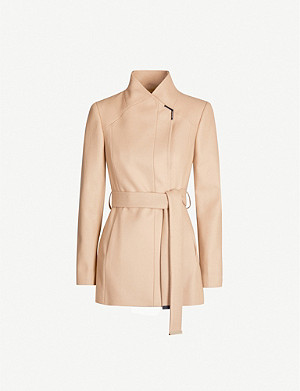 TED BAKER Rytaa wrap wool-blend coat