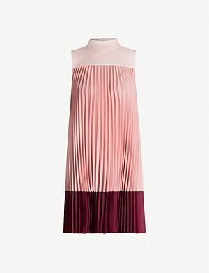 TED BAKER Ombraya pleated woven mini dress