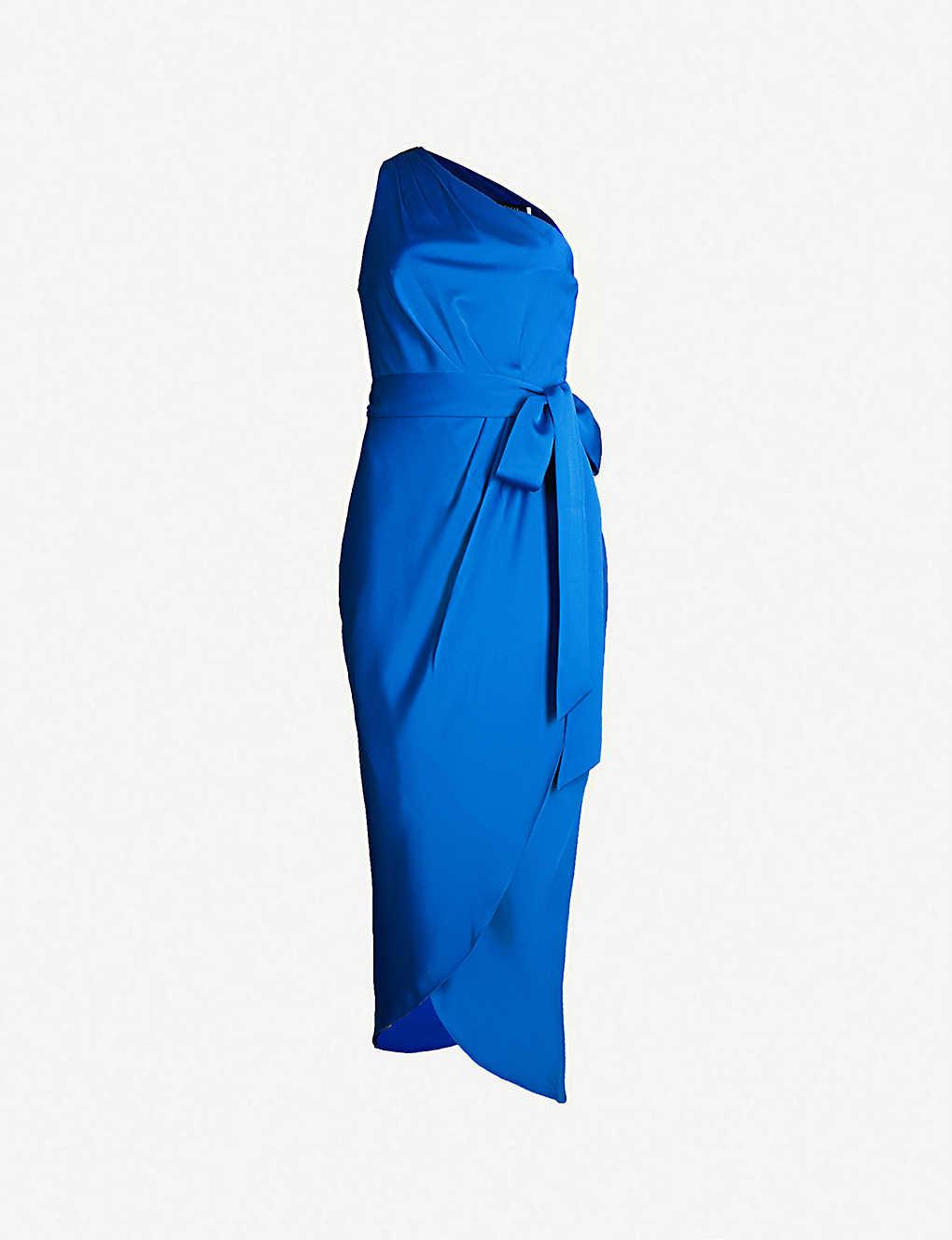 48f7bd69d8acbb TED BAKER - Gabie satin-crepe dress | Selfridges.com