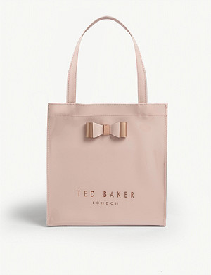 TED BAKER Bow detail small PVC shopper