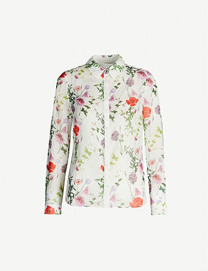 TED BAKER Hedgerow floral-print woven shirt