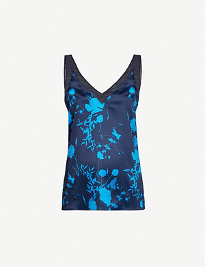 TED BAKER Bluebell-printed satin camisole