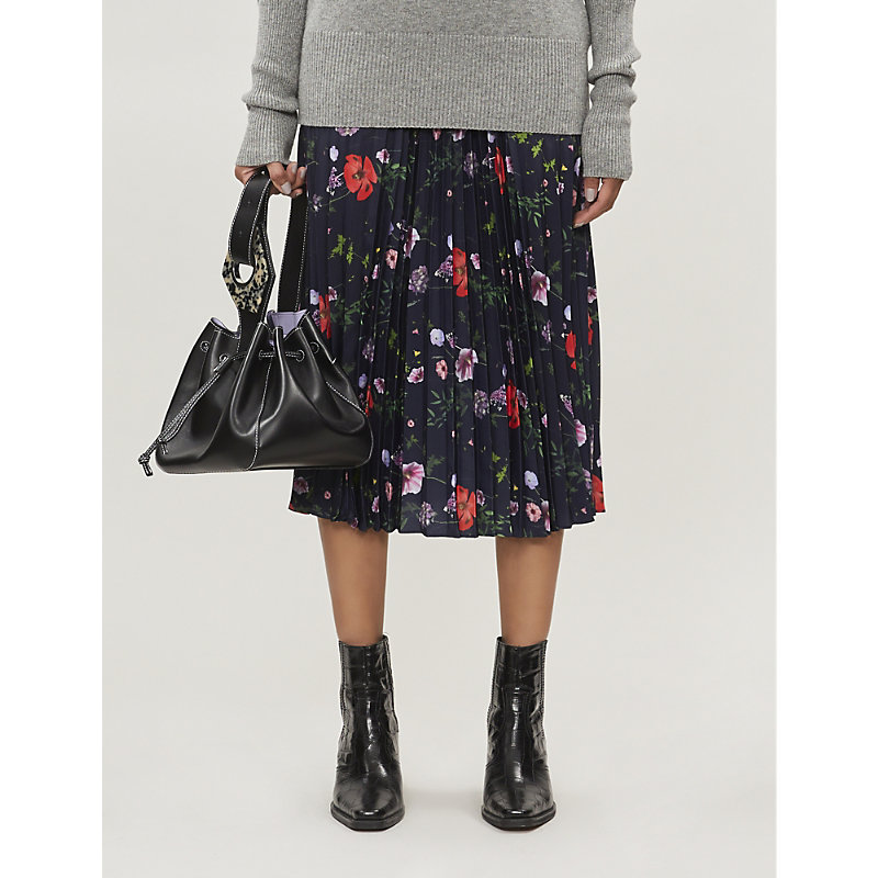 Ted Baker Skirts HEDGEROW FLORAL-PRINT PLEATED WOVEN SKIRT