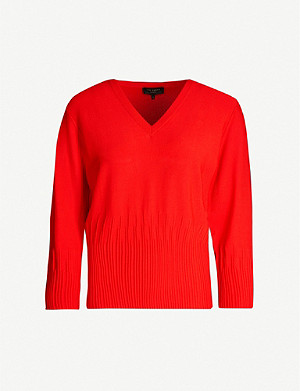 TED BAKER Lornini knitted V-neck jumper