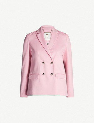 TED BAKER Double-breasted twill blazer