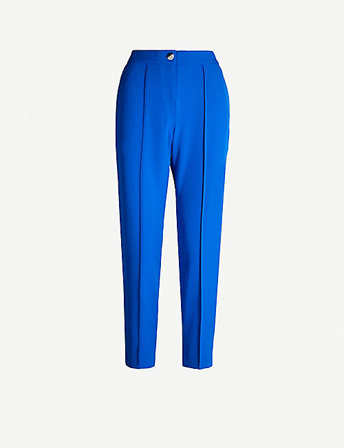 TED BAKER High-rise cropped crepe trousers