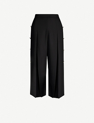 TED BAKER Buttoned-side crepe culottes