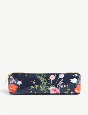 TED BAKER Drienna Hedgerow print pencil case 5.5cm x 20cm