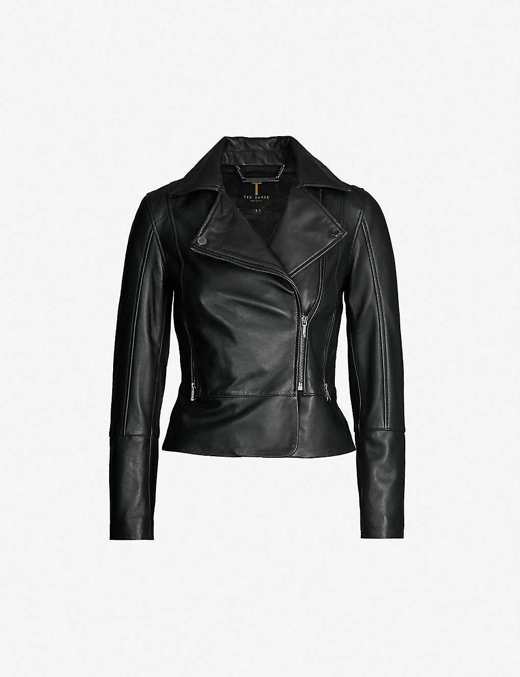 f4f521955 TED BAKER - Leather biker jacket