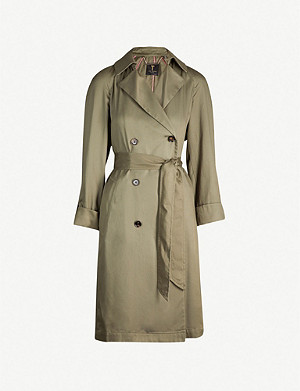 TED BAKER Maccs double-breasted woven trench coat