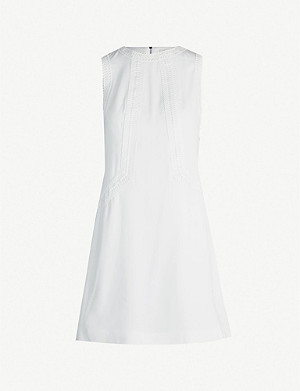 TED BAKER Sieera lace-detail crepe dress