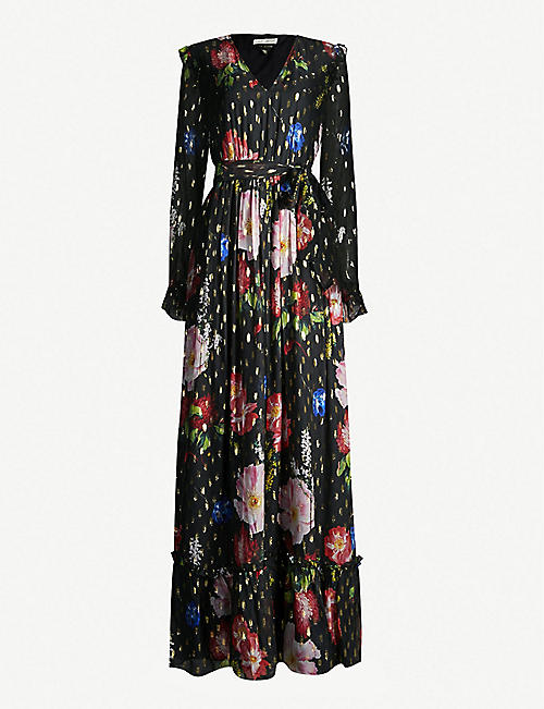 fd8ba1543 TED BAKER Berry Sundae metallic-flecked floral-print chiffon maxi dress